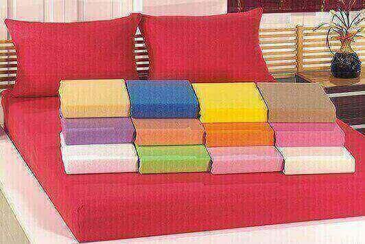 תמונה של סט מצעי ג'רסי 2 חלקים 100%  כותנה טריקו למיטת יחיד במגוון צבעים לבחירה