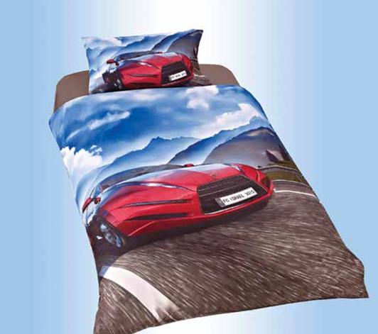 תמונה של סט ריאקטיב ילדים ונוער אל קמט 5D מיטת יחיד 3 חלקים  | מכונית ספורט