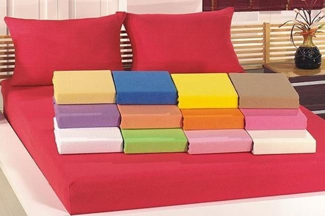 תמונה של סט למיטה זוגית רחבה 3 חלקים ג'רסי 100% כותנה טריקו  בצבעים מגוונים לבחירה
