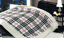 תמונה של שמיכת פינוק פלנל מיטה זוגית מודפסות ממולאות FLANNEL RC15573