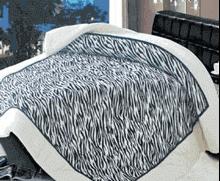 תמונה של שמיכת פינוק פלנל מיטה זוגית מודפסות ממולאות FLANNEL RC13736