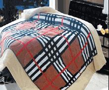 תמונה של שמיכת פינוק פלנל מיטה זוגית מודפסות ממולאות FLANNEL RC14880