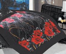 תמונה של שמיכת פינוק פלנל מיטה זוגית מודפסות ממולאות FLANNEL RC16000