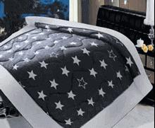 תמונה של שמיכת פינוק פלנל מיטה זוגית מודפסות ממולאות FLANNEL RC16004