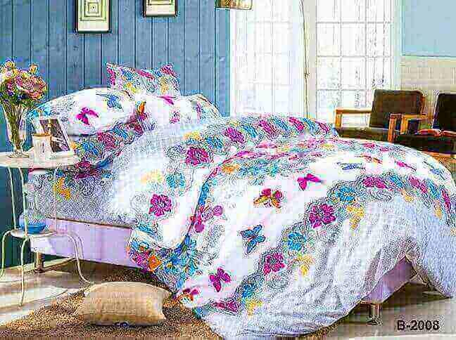 """תמונה של מצעי כותנה """"אוריאן"""" - 197 חוט לאינץ!! מיטת זוגית רחב 4 חלקים   B-2008"""