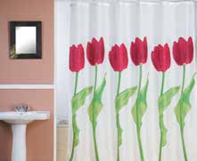 תמונה של וילון אמבטיה  FLOWERS 180x180