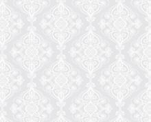 תמונה של וילון אמבטיה  לבן ז'קרד 180x180