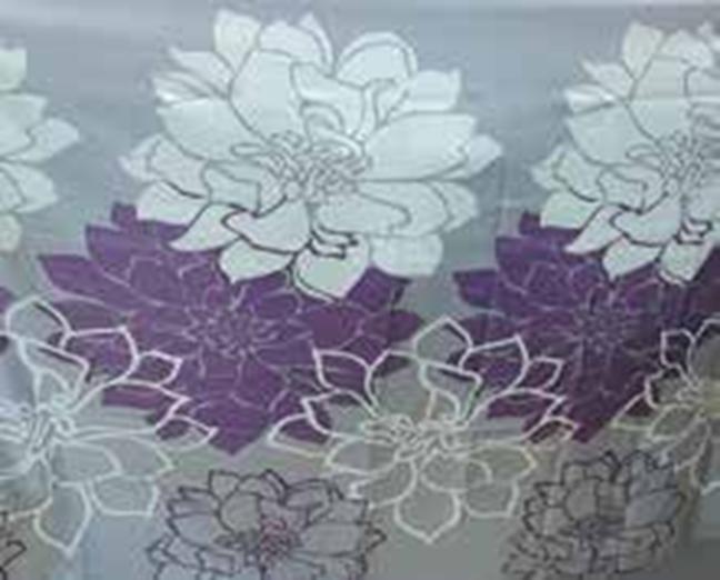 תמונה של וילון אמבטיה  פרח סגול 180x180