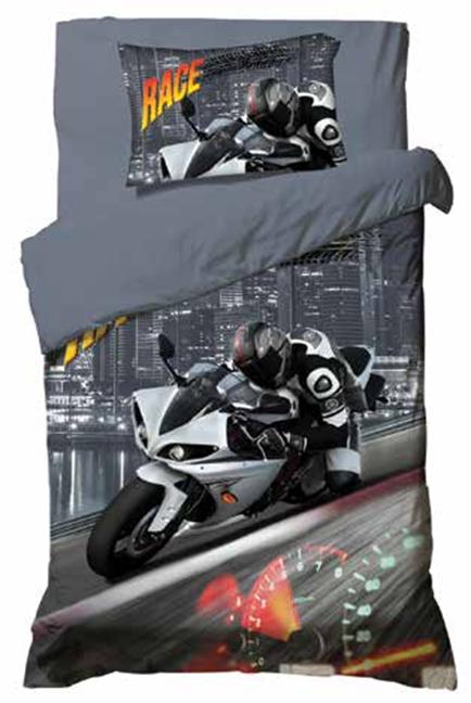תמונה של סט ריאקטיב ילדים ונוער אל קמט 5D מיטת יחיד 3 חלקים  | אופנועי מירוץ