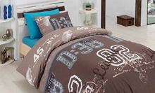תמונה של מיטה וחצי 3 חלקים סט מצעי נוער 100% פרקל צפיפות 180 חוט לאינטש