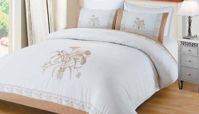 תמונה של מערכת קיץ ריאקטיב - סאטן אל קמט  מיטה זוגית 6 חלקים  | LORD RM1616-זהב