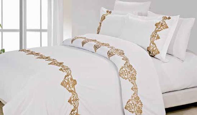 תמונה של מערכת קיץ ריאקטיב - סאטן אל קמט  מיטה זוגית 6 חלקים  | LORD-זהב