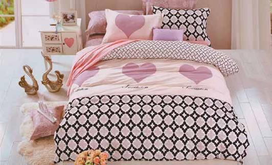 תמונה של סט ביוטי 100% כותנה מיטה זוגית 4 חלקים רחב | 2073