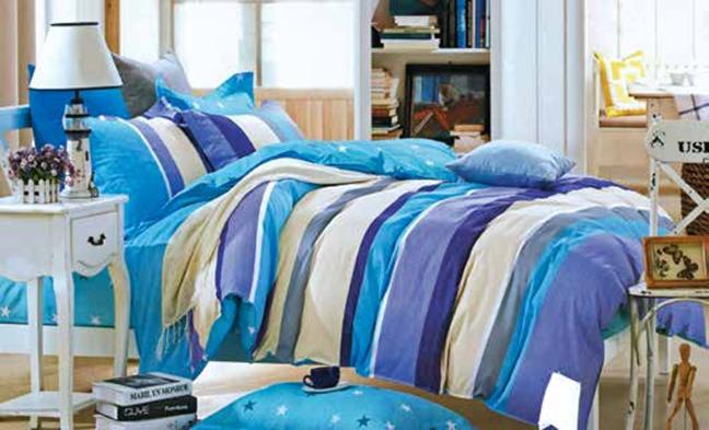 תמונה של סט ביוטי 100% כותנה מיטה זוגית 4 חלקים רחב   2074